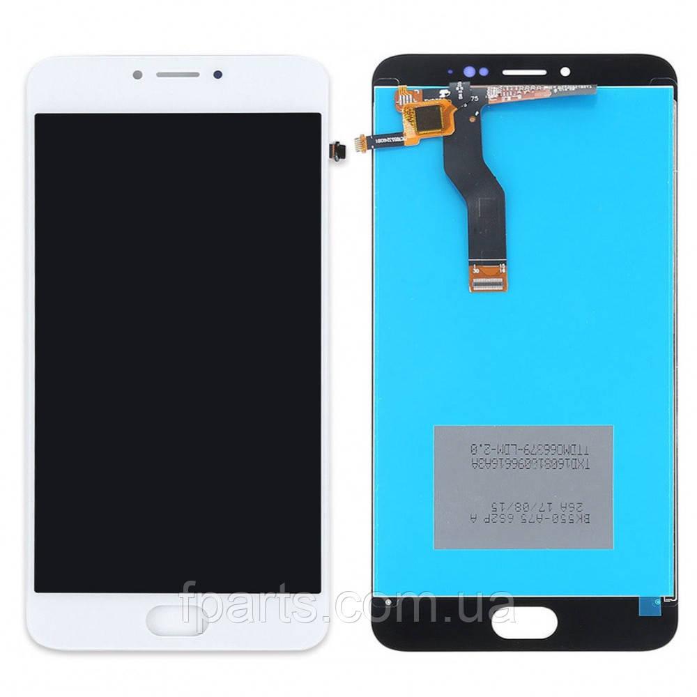 Дисплей для Meizu M3 Note (L681H) с тачскрином, White