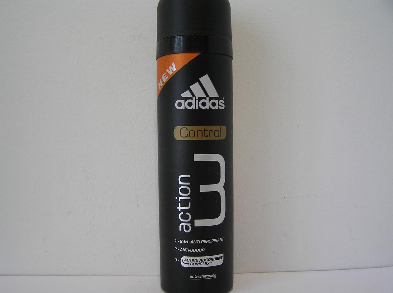 Аэрозольный мужской дезодорант Adidas Action 3 Pro Control 150 мл. (Адидас Спорт Филд)