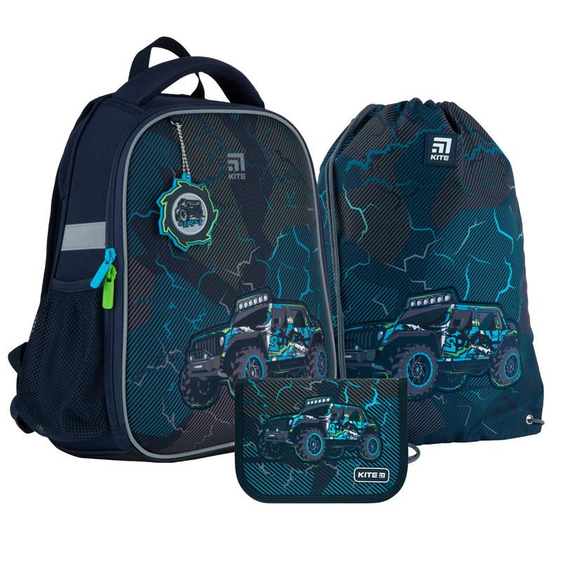 Школьный набор рюкзак + пенал + сумка Kite Cross-country (K21-555S-1)  800 г  35x26x13,5 см  12 л  темно-синий