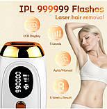 Профессиональный лазерный эпилятор для удаления волос IPL 990000, фото 4