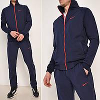 Темно синий мужской спортивный костюм / Размеры: 46-52 / Трикотаж - дайвинг