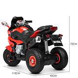Мотоцикл дитячий M 4188AL-3 червоний, фото 5