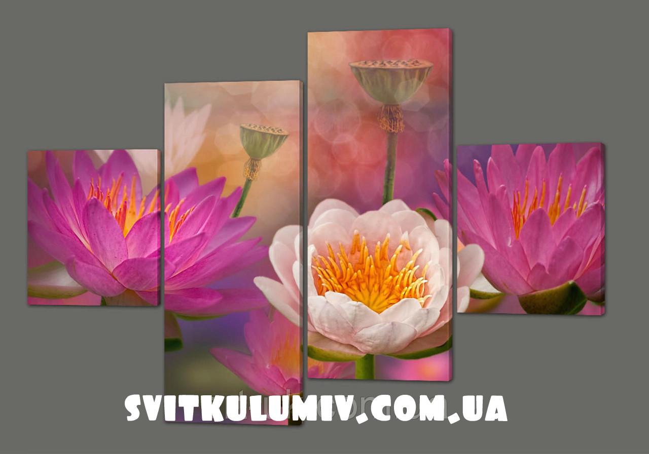 Модульная картина Цветы 160*114 см Код: 245.4k.160