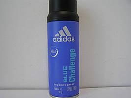 Аэрозольный мужской дезодорант Adidas Blue Challenger (Адидас Блю Челенджер)