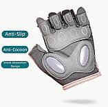 Спортивні жіночі рукавички TMT 68W для спорту та фітнесу Колір Чорно Сірий, фото 2