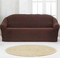 Накидка на диван 3/18 темно-коричнева SKL11-292096