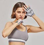 Спортивні жіночі рукавички TMT 68W для спорту та фітнесу Колір Чорно Сірий, фото 4