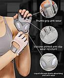 Спортивні жіночі рукавички TMT 68W для спорту та фітнесу Колір Чорно Сірий, фото 6