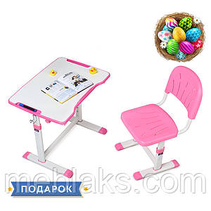 Растущая детская парта со стульчиком Cubby Olea Pink
