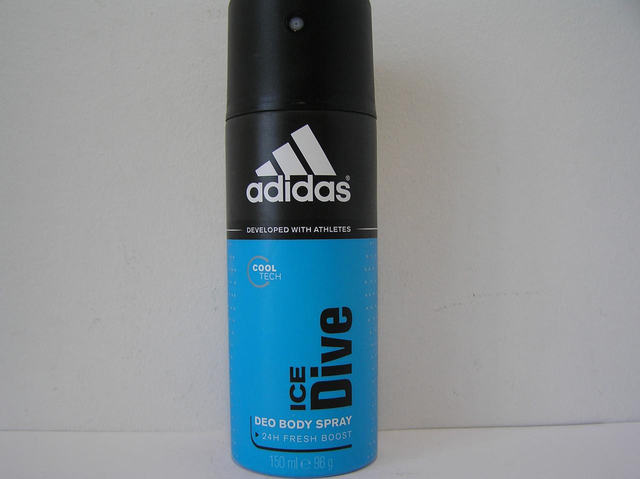 Аерозольний чоловічий дезодорант Adidas Ice Dive (Адідас Айс Дайв)