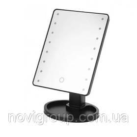 Дзеркало для макіяжу з LED підсвічуванням Magic Makeup Mirror, Black