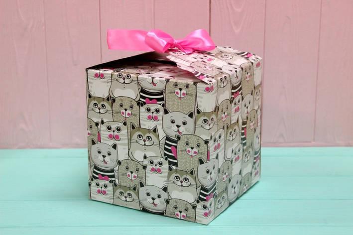Подарункова коробка Упаковкин 16*16*16см №КР 16-4, фото 2
