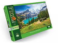 Пазлы 1000 деталей для детей и взрослых картонные красивые на много деталей(Горный пейзаж)