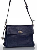 Кожаная сумка через плечо синяя L-DL90695 LABBRA
