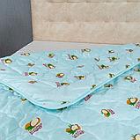 Одеяло Arda «Coconut» Лето, голубое с рисунком 175х215, фото 5