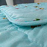 Одеяло Arda «Coconut» Лето, голубое с рисунком 175х215, фото 4