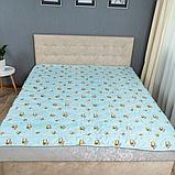 Одеяло Arda «Coconut» Лето, голубое с рисунком 175х215, фото 2