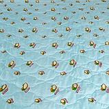 Одеяло Arda «Coconut» Лето, голубое с рисунком 175х215, фото 3