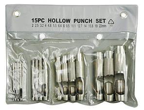 Пробойники (просечки) для кожи 2-22 мм 15 шт. technics 13-880