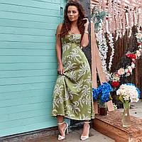 Шовкова сукня з принтом