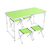 Стіл для пікніка + 4 стільця/зелений