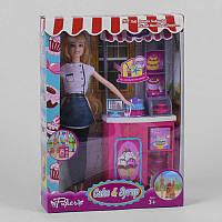 """Кукла JX 200-20 (36/2) """"""""Кондитерская"""""""", прилавок, аксессуары, в коробке"""