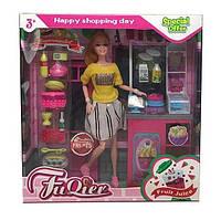 """Кукла JX 300-41 (36/2) """"""""Кондитерская"""""""", стойка, продукты, аксессуары, в коробке"""