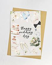 Happy wedding day листівка