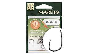 Kрючок Maruto 8346BL T.D.E.10° без бородки Black Nickel № 10