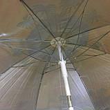 Пляжний зонт 100M 2м, спиці системи ромашка, з нахилом і напилюванням (ЦІНА ЗА ЯЩИК), фото 3