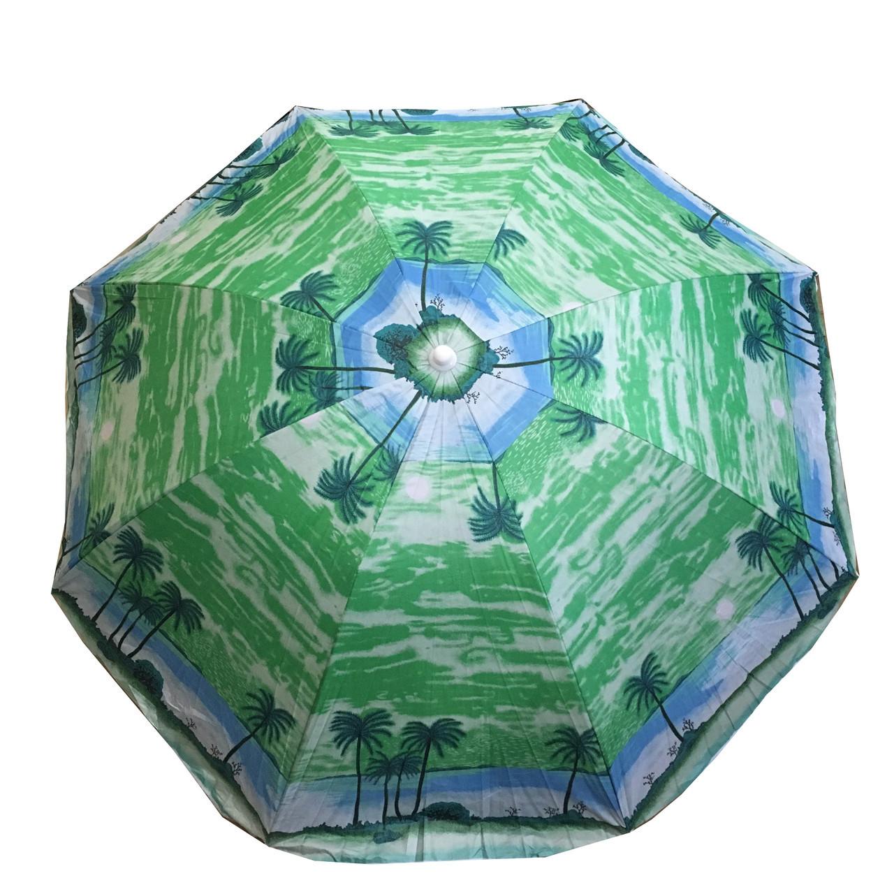 Пляжний зонт 85P 1.80 м,пластикові спиці, з нахилом і напилюванням (ЦІНА ЗА ЯЩИК)