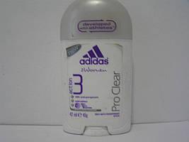 Твердий женеский дезодорант антиперспірант Adidas PRO CLEAR (Адідас Про Клір)