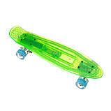 Пенниборд-скейт 840, Светящаяся дека+блютуз колонка, колёса PU СВЕТЯЩИЕСЯ, фото 3