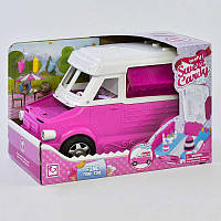 """Машинка для куклы К 899-51 (6) """"""""Магазин-Кондитерская"""""""", трансформируется, с аксессуарами, в коробке"""