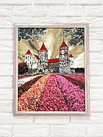 Рамка для картин 40х50 багетная (розовая посеребренная 3 см)