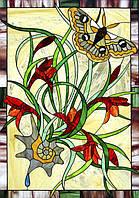 Витраж оконный - Витраж бабочка
