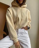 Женский стильный свитшот с капюшоном Батал, фото 1