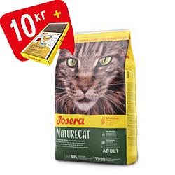 Корм Josera NatureCat Йозера НейчерКет для кішок беззерновий з лососем 10 кг кешбек та доставка
