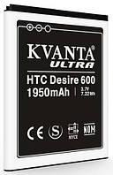 Усиленный аккумулятор для HTC Desire 600, One SV C520e, Desire 500, Desire 400 dual sim (BA S890, BM60100) 1950mAh