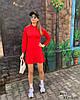 Женское прямое спортивное платье с капюшоном