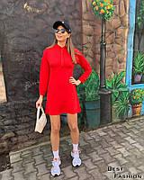 Женское прямое спортивное платье с капюшоном, фото 1