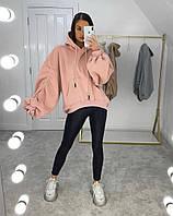 Женское стильное удлиненное худи с капюшоном, фото 1