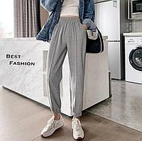 Жіночі стильні штани на манжетах, фото 1