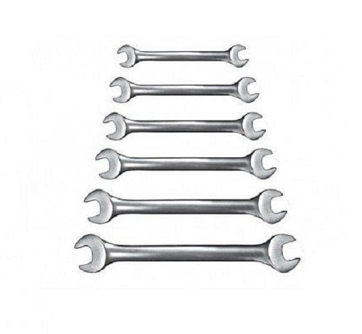 Набор рожковых ключей Бригадир Professional Cr-V сатиновый (12шт.)