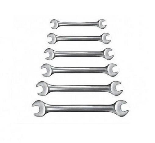 Набор рожковых ключей Бригадир Professional Cr-V сатиновый (12шт.), фото 2
