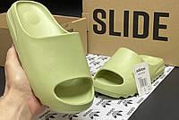 Тапочки Adidas Yeezy Slide салатовые женские лето