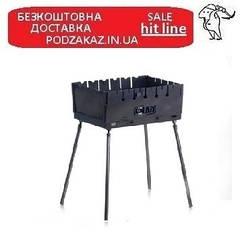 Мангал раскладной (чемодан) толщина 2 мм на 6 шампуров   СИЛА