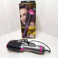 Фен щетка стайлер для укладки волос 2 в 1(One step) DSP 50052 D