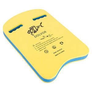 Доска для плавания Dolvor DLV-3U-2, желтый/синий
