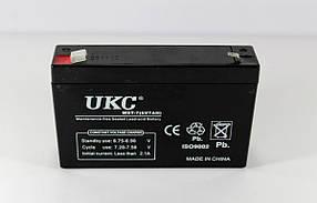 Аккумулятор BATTERY 6V 7A UKC (Реальная ёмкость -40%)